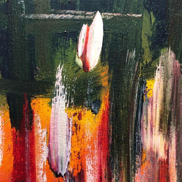 هنر نقاشی و گرافیک محفل نقاشی و گرافیک رویاکارپسند تابلو رنگ و روغن  ۳۰*۳۰ گلی در حصار