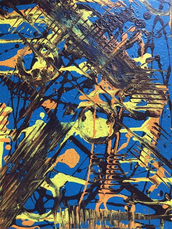 هنر نقاشی و گرافیک محفل نقاشی و گرافیک رویاکارپسند تابلو رنگ اکرولیک ۳۰*۴۰ موسیقی جنگ