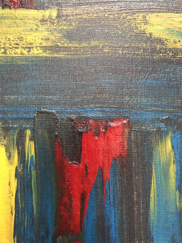 هنر نقاشی و گرافیک محفل نقاشی و گرافیک رویاکارپسند فروپاشی تابلو رنگ اکرولیک ۲۰*۲۰