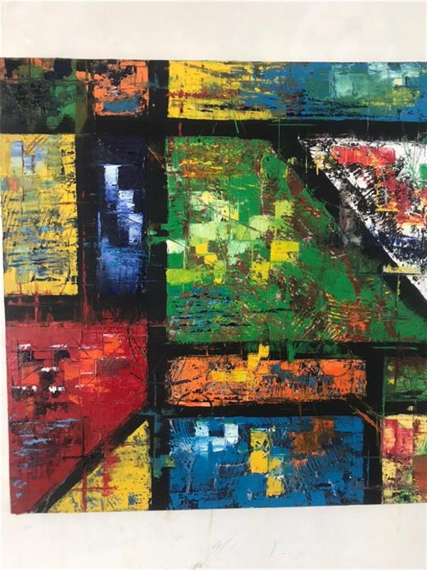 هنر نقاشی و گرافیک محفل نقاشی و گرافیک رویاکارپسند «دیوارهای ذهن» هنر#انتزعی  رنگ و روغن روی بوم  ابعاد ۵۰*۵۰