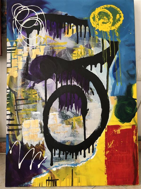 هنر نقاشی و گرافیک محفل نقاشی و گرافیک رویاکارپسند تشویش #اکرولیک_ابستره ابعاد ۷۰*۱۰۰