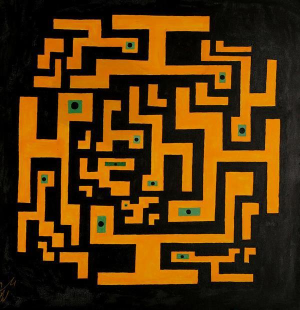 هنر نقاشی و گرافیک محفل نقاشی و گرافیک Arash Momtazbakhsh نام اثر: مکرر ابعاد: 50*50 تکنیک: آکریلیک و آبرنگ روی بوم رویکرد: دگردیسی حروف