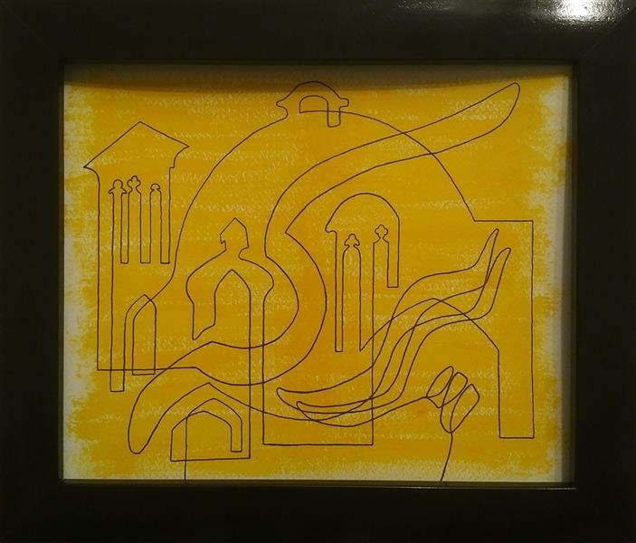 هنر نقاشی و گرافیک محفل نقاشی و گرافیک Arash Momtazbakhsh نام اثر: سلام بر برکه ابعاد: 25*35 تکنیک: آکریلیک و فاین لاینر روی مقوا رویکرد: نقاشی با یک خط
