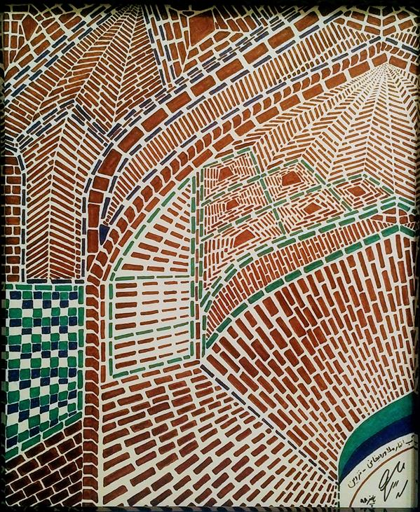هنر نقاشی و گرافیک محفل نقاشی و گرافیک Arash Momtazbakhsh نقاشی معماری ابعاد 20*30 آب انبار ملاوردیخانی