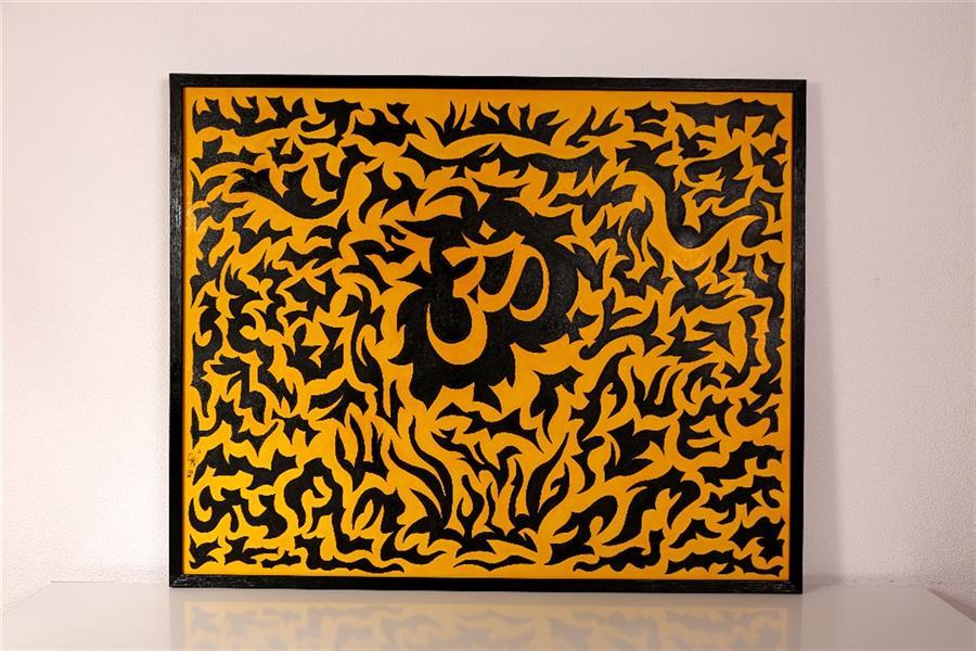 هنر نقاشی و گرافیک محفل نقاشی و گرافیک Arash Momtazbakhsh نام اثر: خیر و شر ابعاد: 100*80 تکنیک: آکریلیک و آبرنگ روی بوم رویکرد: طرح مفهومی قاب مشکی باریک