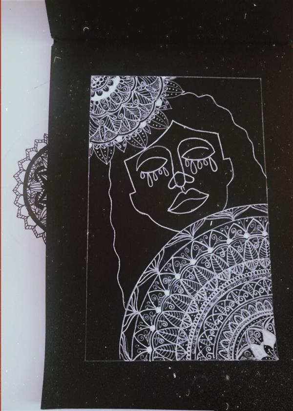 هنر نقاشی و گرافیک محفل نقاشی و گرافیک یلدا غیور  #ماندالا #هنریکخطی #onelineart