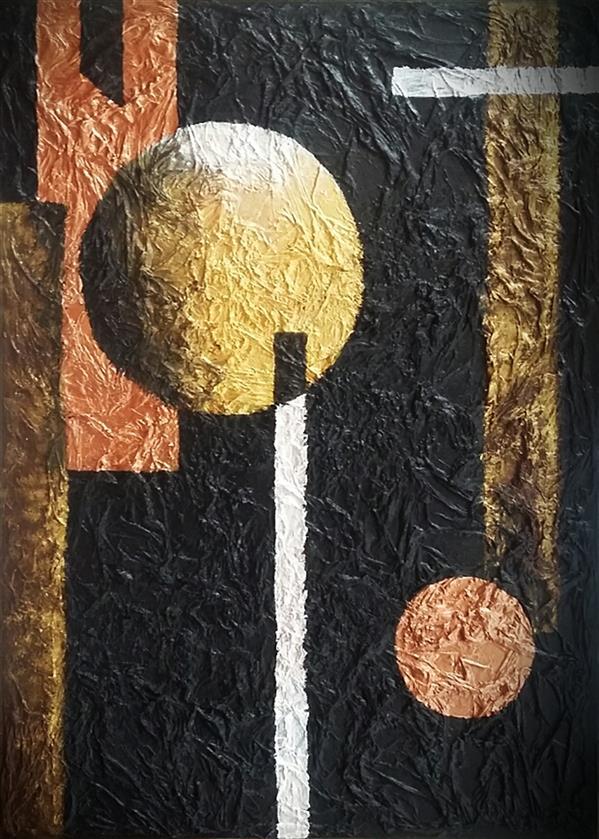 هنر نقاشی و گرافیک محفل نقاشی و گرافیک آنا محمدی #تابلو_دکوراتیو  #نقش_برجسته  #بوم_تیشو_رنگ روغن و اکریلیک #ابعاد_50×70