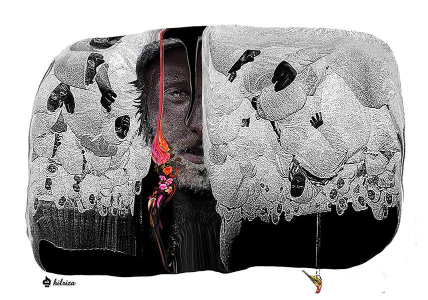 هنر نقاشی و گرافیک محفل نقاشی و گرافیک Hilda Rezaei The new project in collage design/2019  Size:100*70/Iranian Women #collage #illustration #تصویرسازی #کلاژ