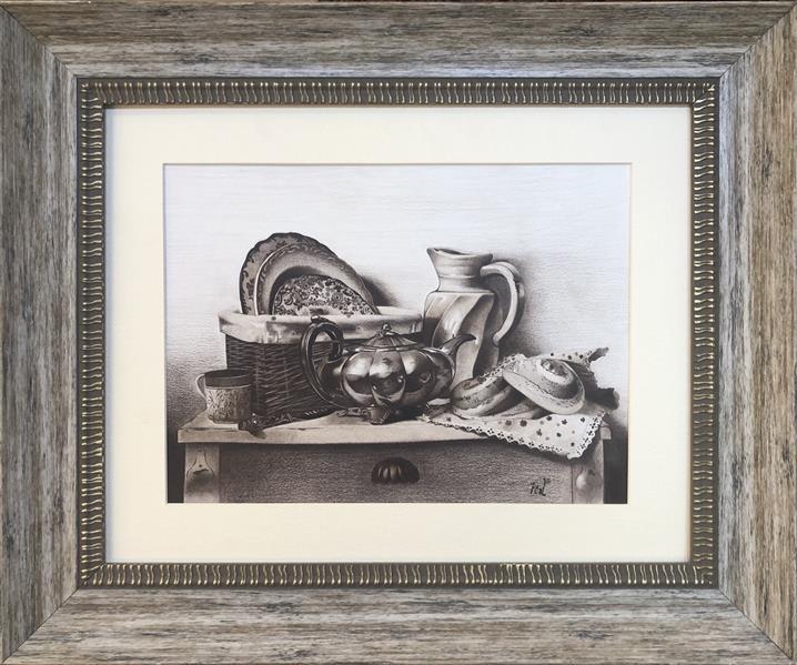 هنر نقاشی و گرافیک محفل نقاشی و گرافیک متین روئین تن نوستالژی: تکنیک: #مدادرنگی#تک_رنگ سبک:رئال ابعاد:  ۶۰*۵۰ (با قاب)