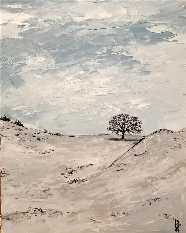 هنر نقاشی و گرافیک محفل نقاشی و گرافیک مینا بختیاری  #رنگ_روغن #کاردک #مقوا #درخت #سفید #امپرسیونیسم #طبیعت #سرما #ایران #اردبیل #سرعین #ایرانگردی #طبیعت_ایران . #oilcolor #oilpainting #paletteknifeart #winter #white #cold #tree #iran #ardabil #impressionism #naturepainting #travel