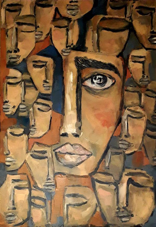 هنر نقاشی و گرافیک محفل نقاشی و گرافیک  مهتاب نوری #تنهایی یعنی بیدار بودن در زمان ومکانی که همه در خواب غفلت به سر میبرند