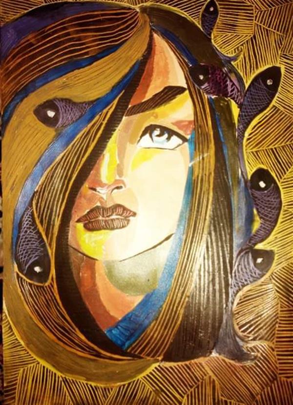 هنر نقاشی و گرافیک محفل نقاشی و گرافیک پروانه والائی اسکراج اویل. A3