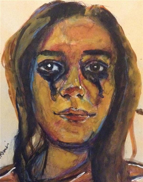 هنر نقاشی و گرافیک محفل نقاشی و گرافیک سمیرا اکبری فر # آبرنگ # نقاشی  # پرتره # اکسپرسیونیسم  #watercolor #painting  #Expressionism #portrait