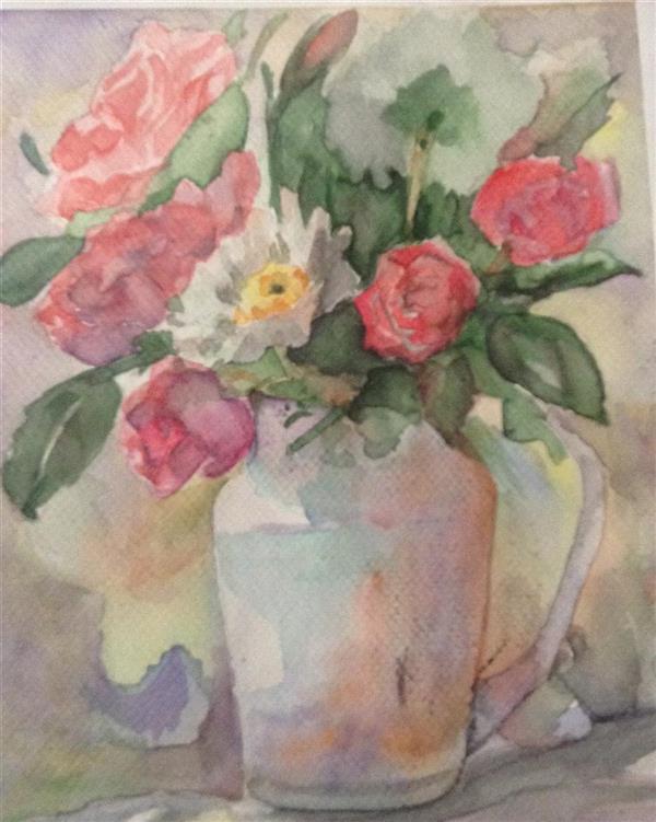 هنر نقاشی و گرافیک محفل نقاشی و گرافیک سمیرا اکبری فر #آبرنگ #نقاشی #گل  #watercolor #painting #flower سایز A4