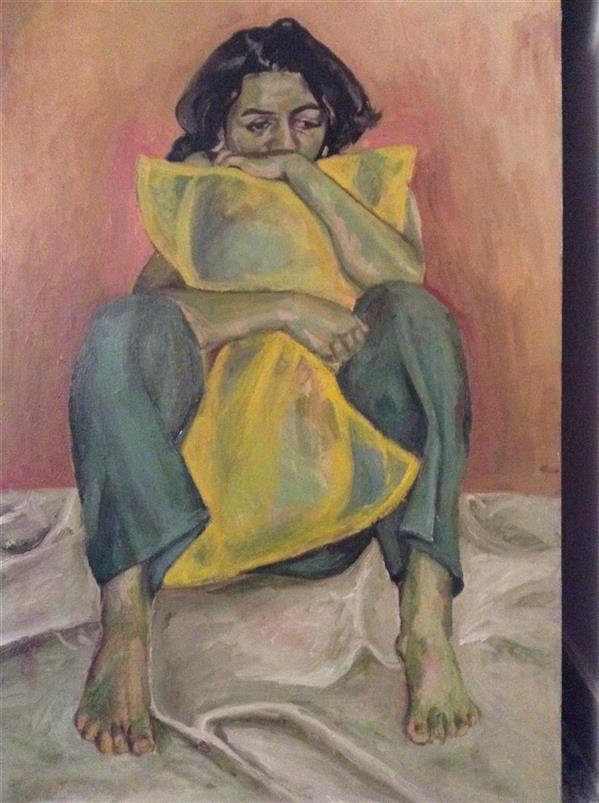 هنر نقاشی و گرافیک محفل نقاشی و گرافیک سمیرا اکبری فر #نقاشی #رنگ روغن #فیگور #اکسپرسیونیسم  #Expressionism #painting #figure #oil color
