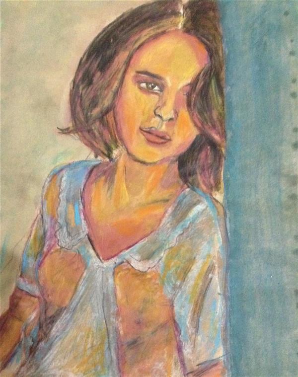 هنر نقاشی و گرافیک محفل نقاشی و گرافیک سمیرا اکبری فر #پاستل  #آبرنگ #طراحی #پرتره #نقاشی  #painting #pastel #watercolor #drawing