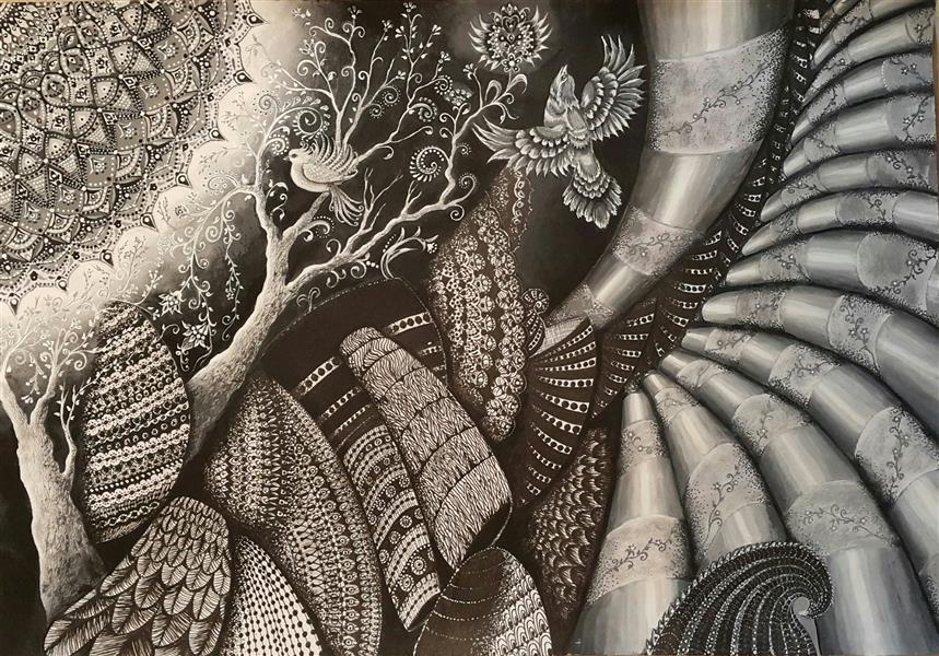 هنر نقاشی و گرافیک محفل نقاشی و گرافیک سالومه شفائی #ذهنی#اورجینال#گواش#راپید#سالومه شفائی#1399