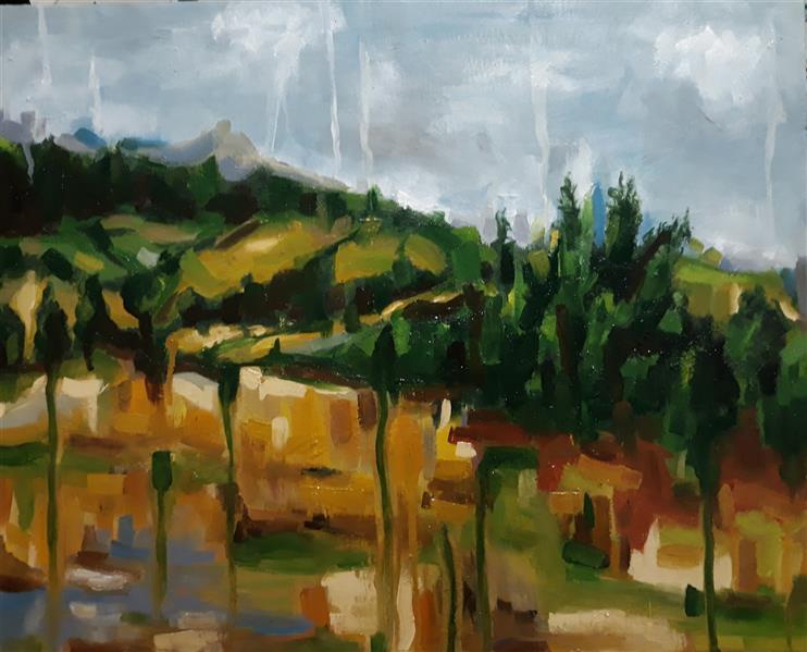 هنر نقاشی و گرافیک محفل نقاشی و گرافیک Sahar - seyf Rain and Tears ، (باران و اشک ها) ، #نقاشی #رنگ_روغن #منظره #طبیعت ، بوم 40*50