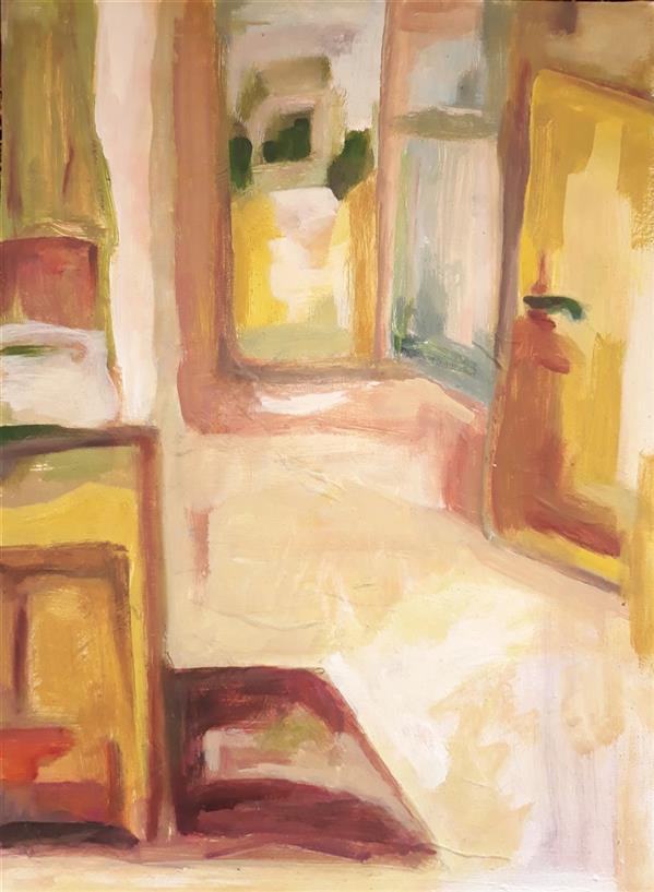 هنر نقاشی و گرافیک محفل نقاشی و گرافیک Sahar - seyf عنوان: The Bedroom  ,  #نقاشی #رنگ_روغن  ، ابعاد: 25*35