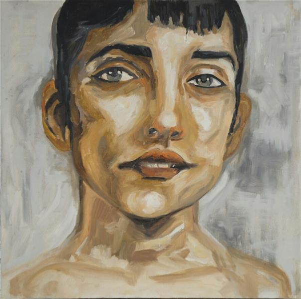 هنر نقاشی و گرافیک محفل نقاشی و گرافیک Sahar - seyf #پرتره #چهره ، تکنیک: #رنگ_روغن ، ابعاد بوم: 60*60 (مربع)