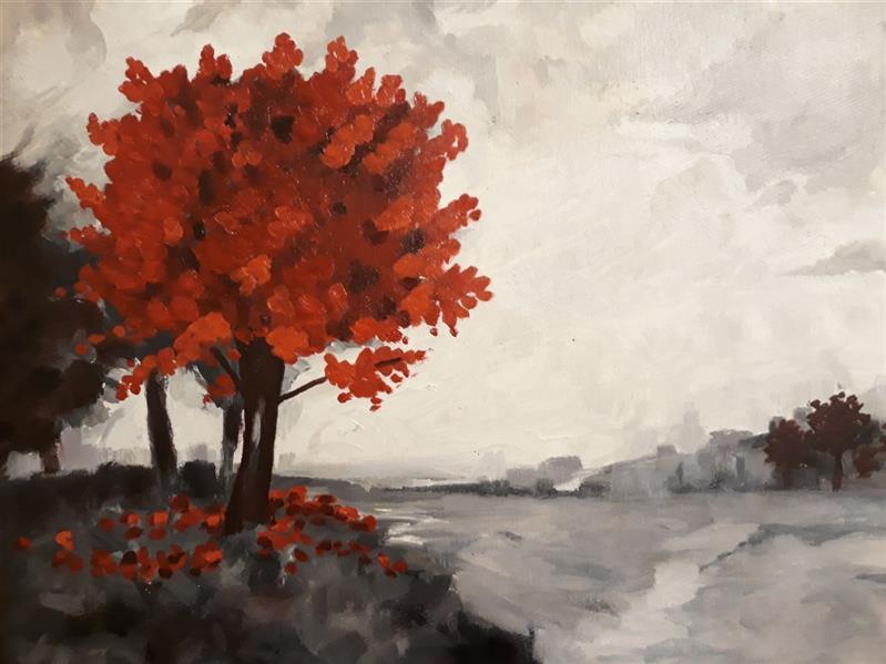 هنر نقاشی و گرافیک محفل نقاشی و گرافیک Sahar - seyf #نقاشی #طبیعت #منظره #رنگ_روغن ابعاد بوم 40*50