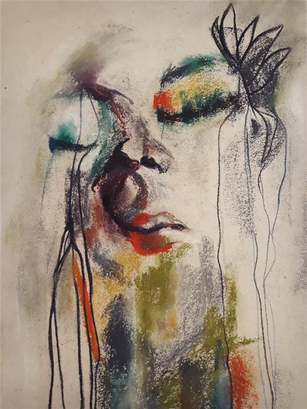 هنر نقاشی و گرافیک محفل نقاشی و گرافیک Sahar - seyf #نقاشی #پرتره تکنیک#پاستل  سایز حدودا A3
