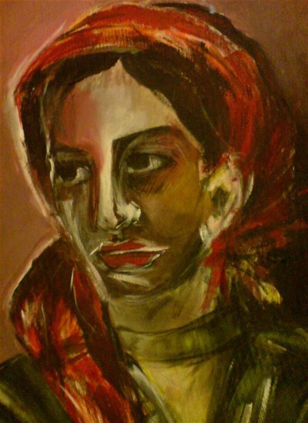 هنر نقاشی و گرافیک محفل نقاشی و گرافیک Sahar - seyf #نقاشی #پرتره #اکریلیک  ابعاد 50*70