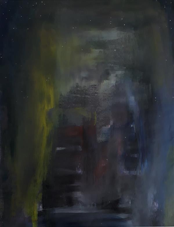 هنر نقاشی و گرافیک محفل نقاشی و گرافیک Sahar - seyf (فروخته شد) ، شب پر ستاره ،  #رنگ_روغن  ،  سایز حدود A4