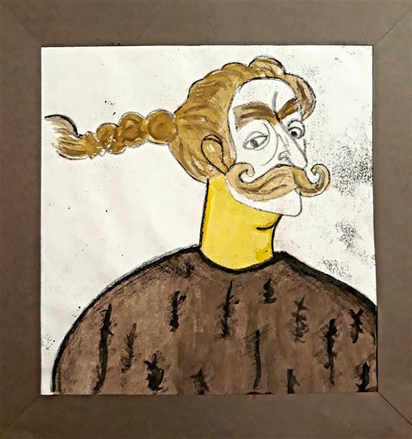 هنر نقاشی و گرافیک محفل نقاشی و گرافیک Sahar - seyf #تصویر_سازی #آبرنگ #مونوپرینت  ابعاد 25*25