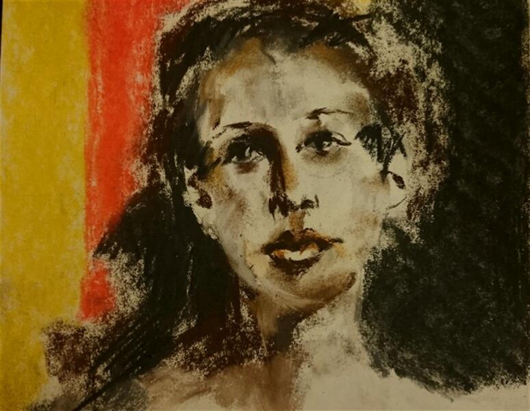 هنر نقاشی و گرافیک محفل نقاشی و گرافیک Sahar - seyf #چهره #پاستل_گچی  ابعاد حدودا A4