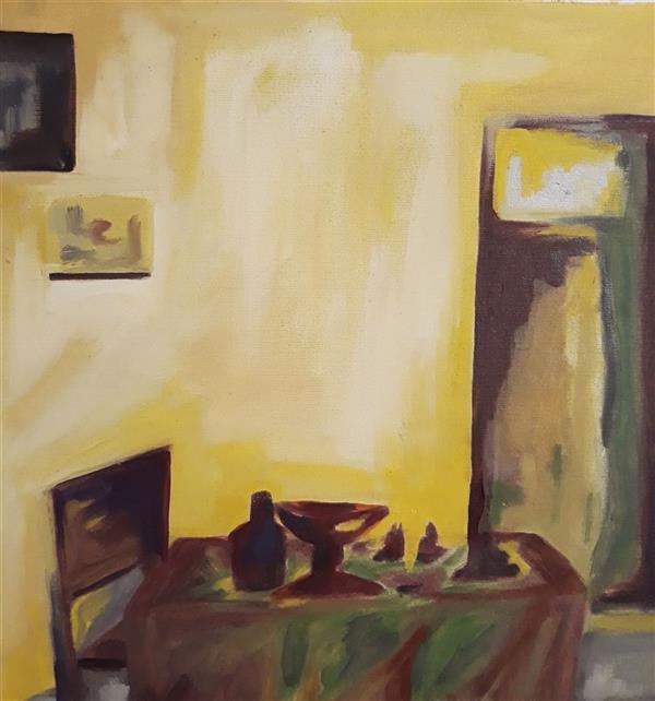 هنر نقاشی و گرافیک محفل نقاشی و گرافیک Sahar - seyf عنوان: We Are Alone  ،  #نقاشی #رنگ_روغن  ابعاد: 30*32