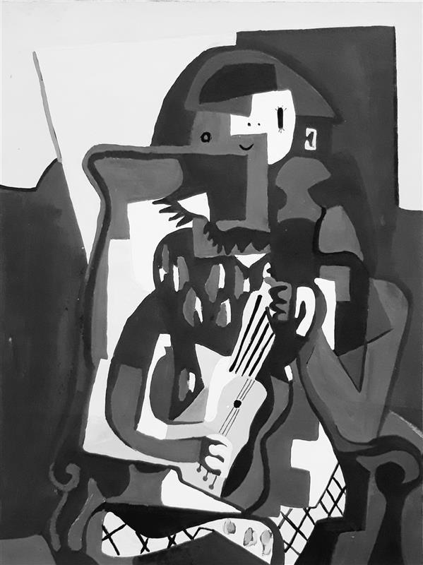 هنر نقاشی و گرافیک محفل نقاشی و گرافیک Sahar - seyf #نقاشی #گواش #سیاه_سفید ، ابعاد A4