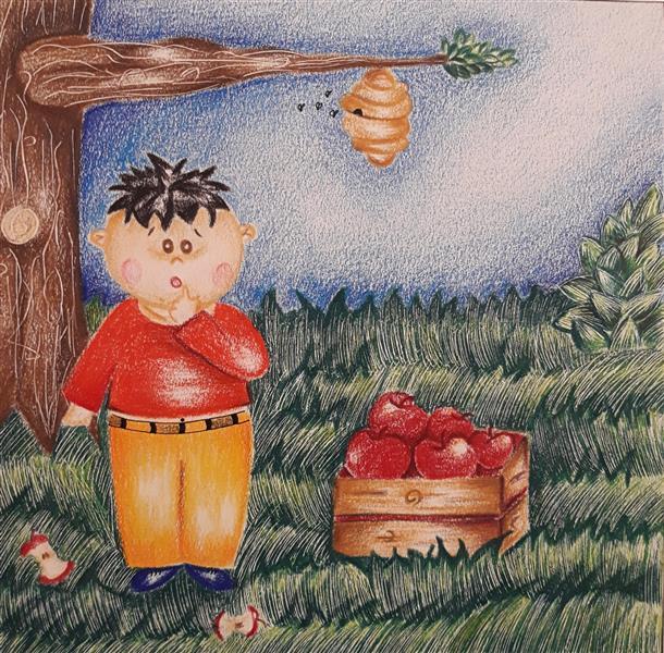 هنر نقاشی و گرافیک محفل نقاشی و گرافیک Sahar - seyf #نقاشی  #تصویر_سازی کودک  تکنیک #مداد_رنگی