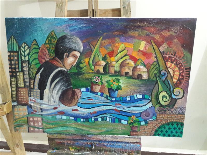 هنر نقاشی و گرافیک محفل نقاشی و گرافیک طاهره امیری ۶۰×۹۰ اکریلیک