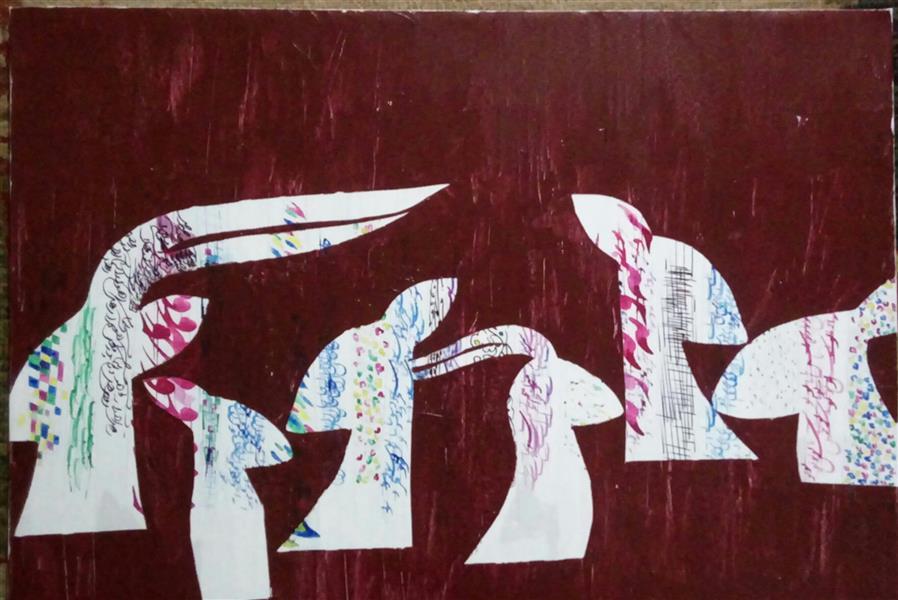 هنر نقاشی و گرافیک محفل نقاشی و گرافیک سهیل اسکندری آهوانِ مست 70×50 آهو#مست
