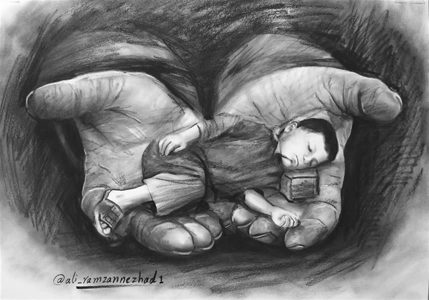 هنر نقاشی و گرافیک محفل نقاشی و گرافیک علی رمضان نژاد نقاشی ذهنی، نام اثر: فقر در فقر،  اثر علی رمضان نژاد،  تکنیک سیاه قلم،  ابعاد مقوای A3، تاریخ اثر: تیر ۹۸