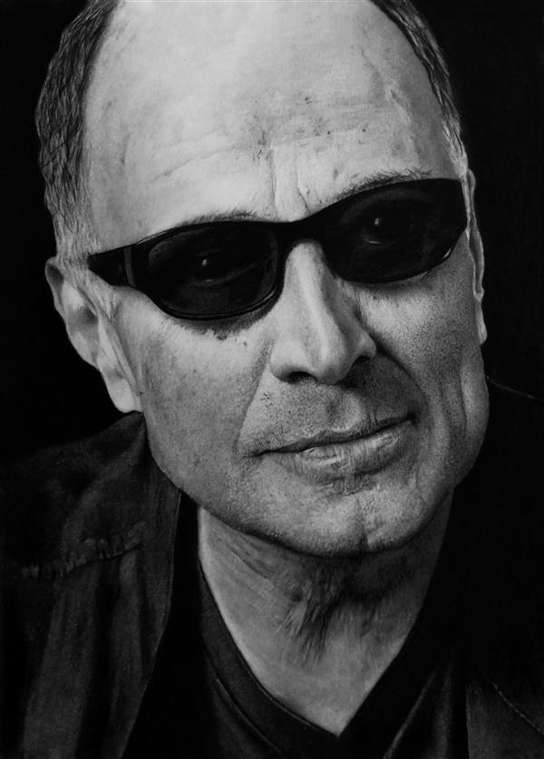 هنر نقاشی و گرافیک محفل نقاشی و گرافیک اسمو - ESMO پرتره زنده یاد استاد عباس کیارستمی تکنیک: مدادگرافیتی ابعاد: A4  #نقاشی #رئال #فتورئال #هایپررئال #مداد_گرافیتی #کنته #پرتره #استاد #عباس_کیارستمی