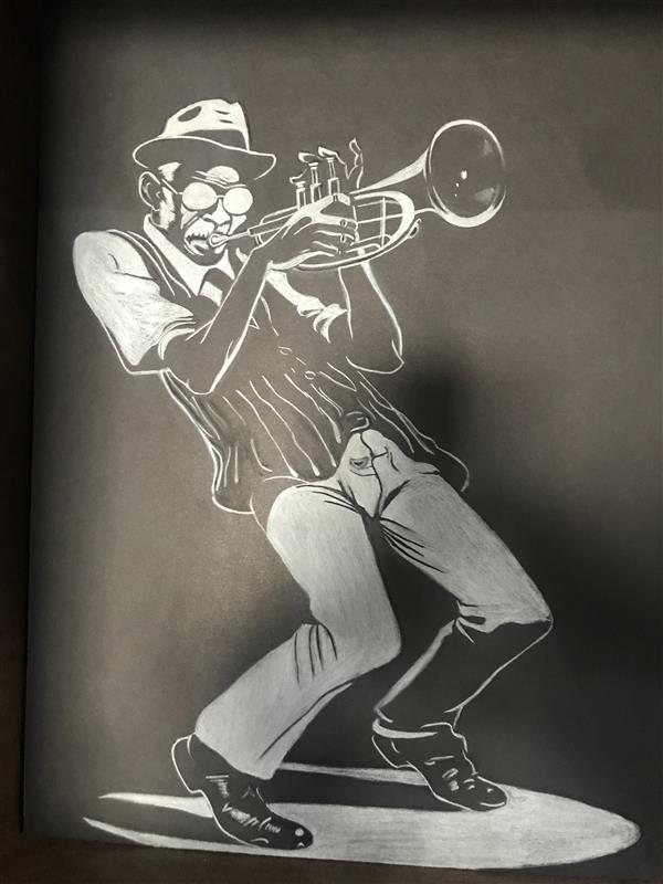 هنر نقاشی و گرافیک محفل نقاشی و گرافیک امید صفاریان  نقاشی کنته روی فوم در ابعاد 40#30