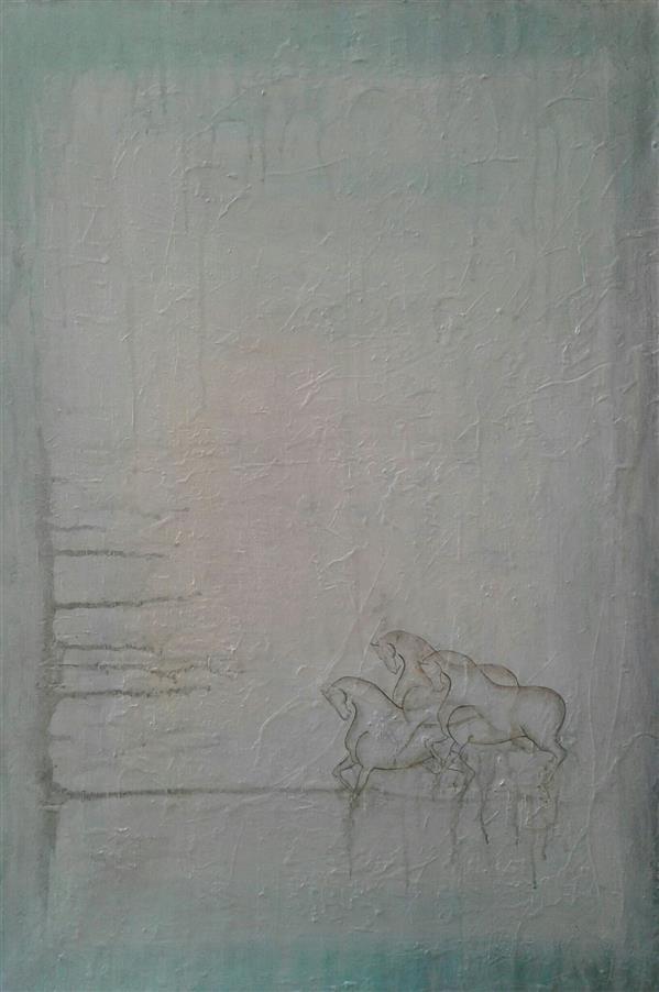 هنر نقاشی و گرافیک محفل نقاشی و گرافیک سیدمحمد نقیب 60*90اکرلیک روی بوم