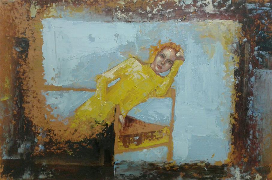هنر نقاشی و گرافیک محفل نقاشی و گرافیک سیدمحمد نقیب 25*35رنگ روغن روی مقوای ماکت