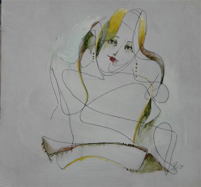 هنر نقاشی و گرافیک محفل نقاشی و گرافیک سیدمحمد نقیب 27*27ترکیب مواد روی چوب