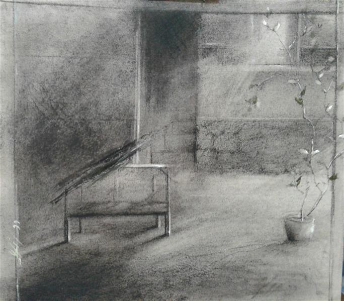 هنر نقاشی و گرافیک محفل نقاشی و گرافیک سیدمحمد نقیب 18*20ترکیب مواد روی مقوا