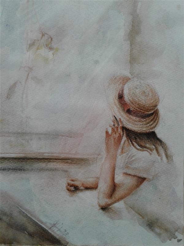 هنر نقاشی و گرافیک محفل نقاشی و گرافیک سیدمحمد نقیب 18*24گرافیت وآبرنگ روی مقوا