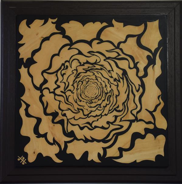 هنر نقاشی و گرافیک محفل نقاشی و گرافیک کاوه ایروانی معرق به سبک مدرن ، طراحی و امضاء خالق اثر.