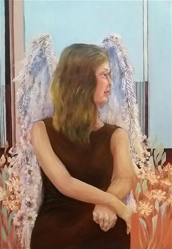 هنر نقاشی و گرافیک محفل نقاشی و گرافیک مریم اکبری بنی maryam akbari beni oilpainting figurative painting  60*80cm