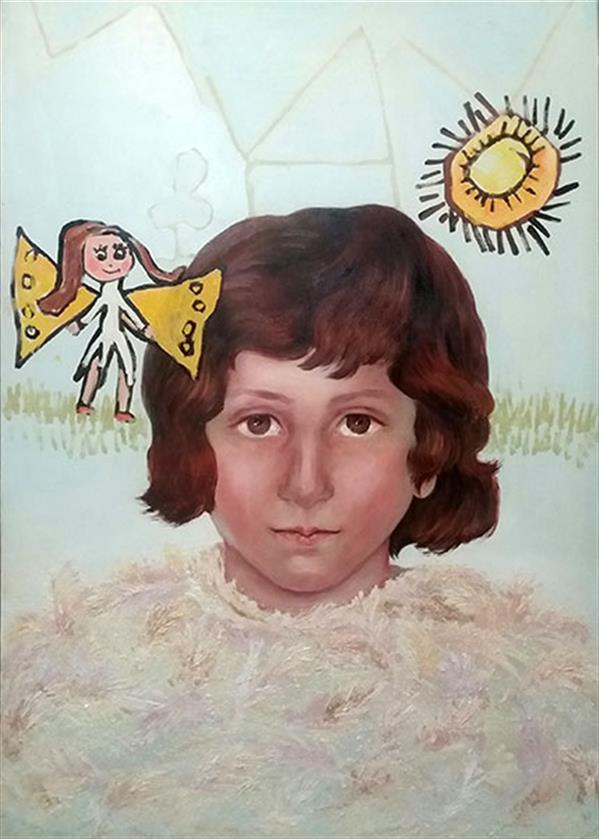 هنر نقاشی و گرافیک محفل نقاشی و گرافیک مریم اکبری بنی maryam akbari beni oilpainting figurative 100*70 cm