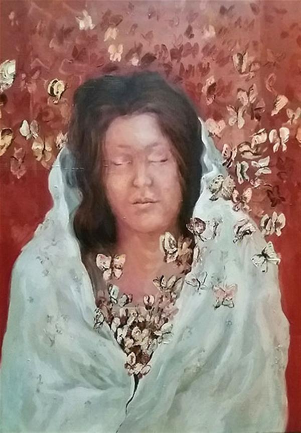 هنر نقاشی و گرافیک محفل نقاشی و گرافیک مریم اکبری بنی maryam akbari beni oilpainting 60*80 cm