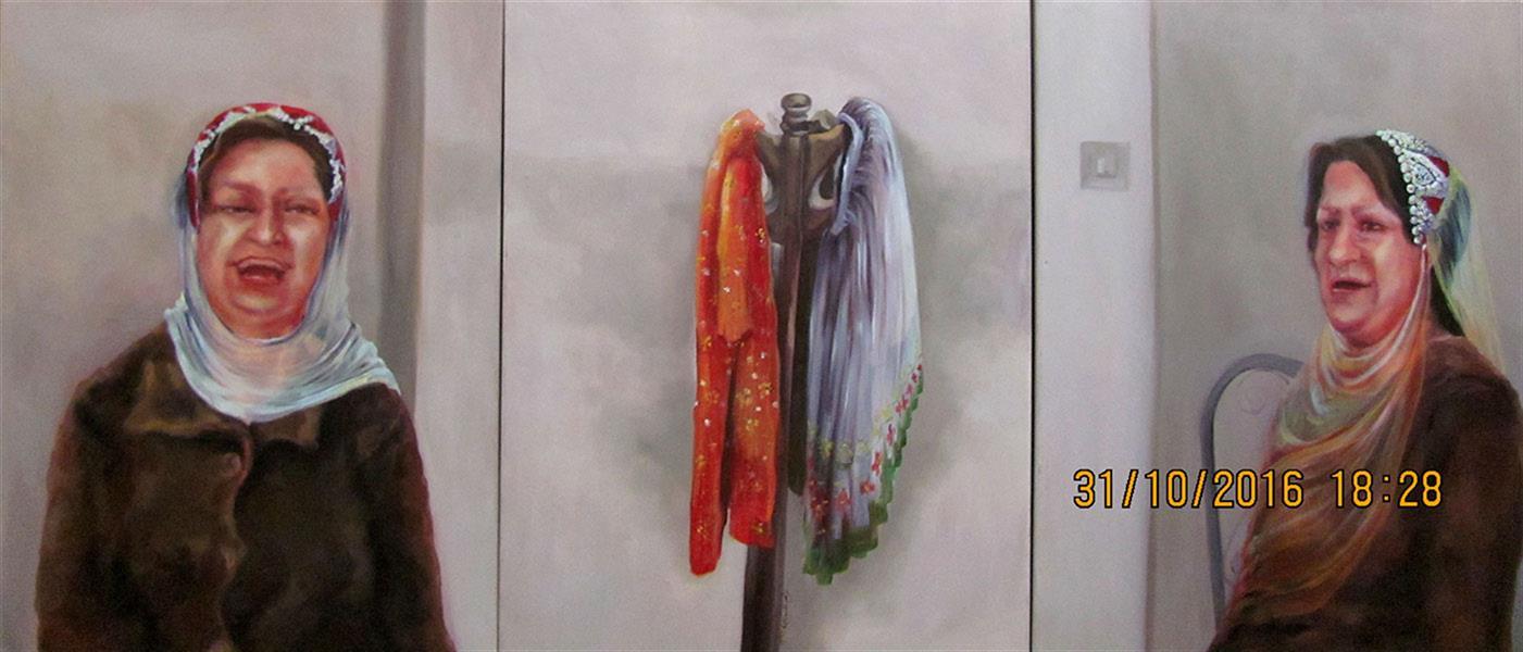 هنر نقاشی و گرافیک محفل نقاشی و گرافیک مریم اکبری بنی maryam akbari beni oilpainting 180*80 cm