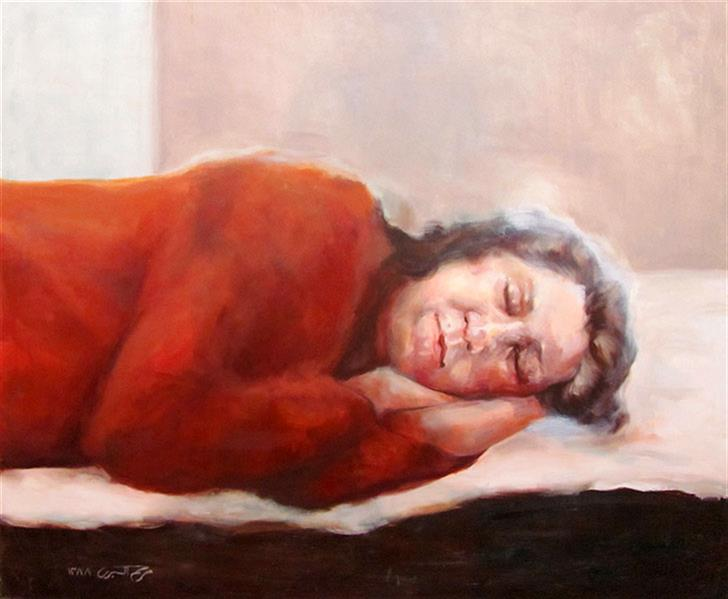 هنر نقاشی و گرافیک محفل نقاشی و گرافیک مریم اکبری بنی maryam akbari oilpainting 100*70 cm