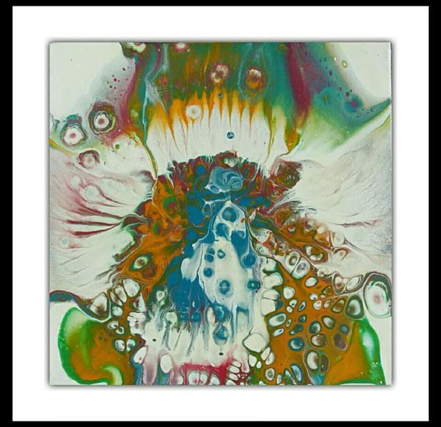 هنر نقاشی و گرافیک محفل نقاشی و گرافیک پرسیس پناهی نام اثر: دهلیز2. #رنگ_اکریلیک بر روی بوم. ابعاد 20*20. تکنیک #آبستره_سلولی #فلویدآرت #پرسیس. بدون قاب